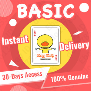 Chegg Study BASIC 30Day Personal Subscription-Trading Card|24/7 INSTANT DELIVERY