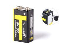 Trustfire 9V-Block 6LR61 6F22 550mAh BMS geschützt mit USB Ladefunktion