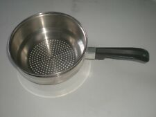 "8"" Stainless Steel Vegetable Steamer Pan Insert for Pasta Veggies Double Boiler"