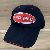 Team Issued Hendrick Motorsports DELPHI Nascar Racing Black Strapback Hat