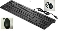 Lot of 12 + 12 USED Dell KB216-BK-US Wired Keyboard + US Wired Mouse- Black USB