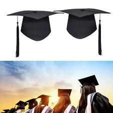 Mortar Board Hat Adults Teacher/Student College Graduation Cap Costume Black