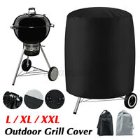 BBQ Grill Cover Barbecue Round Smoker Covers Waterproof For Garden Patio  **
