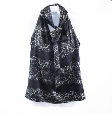 Black ivory floral print satin BANANA REPUBLIC sleeveless blouse PXS