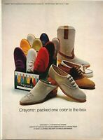 Crayons Brand Shoes Mens Womens Fashion Smerling Imports 1980 Vintage Print Ad