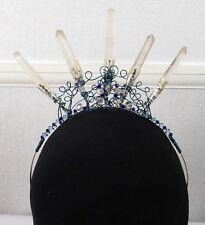 Kaasi Crystal Crown, Wedding Tiara Handfasting, Real Quartz Points & Gemstones