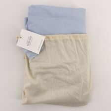 Restoration Hardware Garment Dyed Percale Sky Blue King Bed Skirt