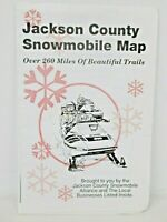 Vintage Snowmobile Trails in Jackson County Wisconsin Trail Map #1