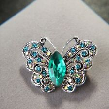 Brooch Lapel Pin Fashion Jewelry Exquisite Alloy Rhinestone Butterfly Shape