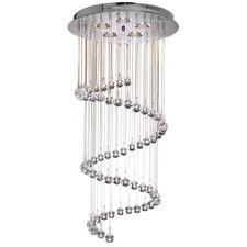 Searchlight 7743CC Hallway Chrome 5 Light Multi-Drop Pendant Crystal Balls