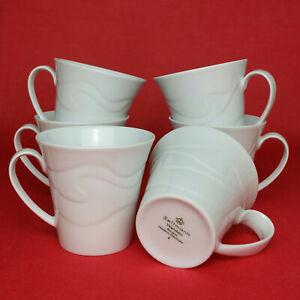 6x Seltmann Weiden Allegro Weiß Kaffeetassen Kaffee-Obertassen 210 ml Porzellan