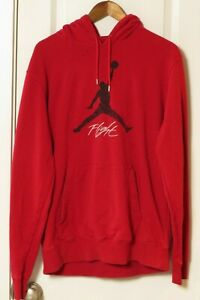 JORDAN BRAND MENS RED LONG SLEEVE HOODED SWEATSHIRT SIZE XL
