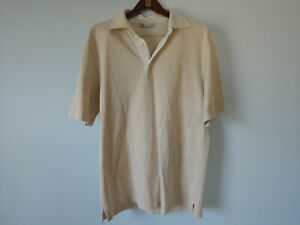 Loro Piana Tan Linen Trimmed Polo Shirt Size XL Made In Italy