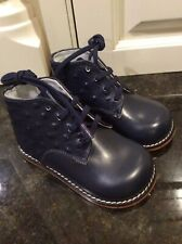Josmo Infant/ Toddler Size 6 E, Ostrich & Leather Navy Oxford Walkers Style 8190