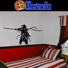 "Samurai Wall Decals, Martial Arts stickers 60"" x 30"""
