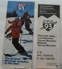 Ski Brochure For Ski 93 Largest Ski Area Complex In The East 73/74 2 Brochures