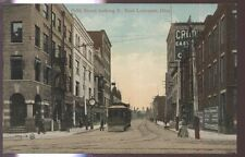 Postcard EAST LIVERPOOL Ohio/OH 5th Fifth St Business Storefronts w/Trolley 1907
