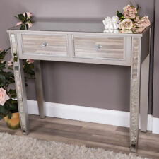 Mirrored Console Table Hallway Furniture Venetian Dressing Table 2 Drawers New