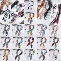 Fashion Women Silk Satin Skinny Scarf Twilly Printed Bag Handle Wrist  Ribbon☜