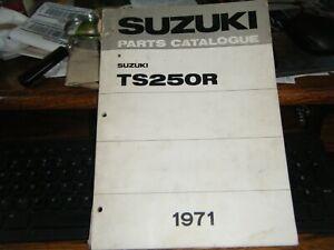 197 Suzuki  TS250R  Motorcycle Parts Catalog Manual DEALER OEM