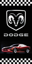 DODGE AUTO DEALER VERTICAL AVENUE POLE BANNER SIGNS