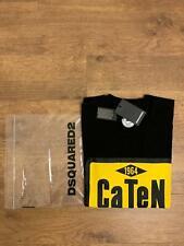 Dsquared2 Caten 1964  Men's T-shirt Black&Yellow Colour %100 Genuine Last 1 👍