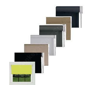 Blackout Roller Blinds Thermal Plain Colour UV-resistant Fabric Trimmable Blind