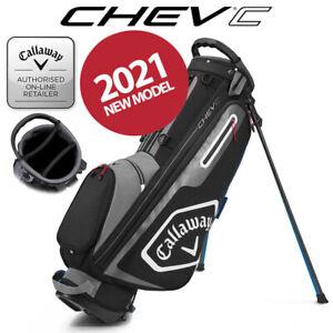 Callaway Chev C Golf Stand Bag Black/Charcoal/White - NEW! 2021