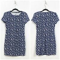 Old Navy Small Womens Blue Floral Print Shirt Dress