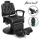 Black Vintage All Purpose Recline Hydraulic Barber Chair Salon Beauty Equipment