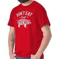 Dont Eat Friends Cute Pig Vegan Veggie Funny Short Sleeve T-Shirt Tees Tshirts