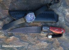 Custom Knife Brothersville Pruyn Love Kills Damascus Fighter Fixed Blade