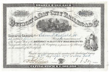 Stk Detroit & Bay City RR Michigan,1878  s/p James F. Joy Not Cancelled