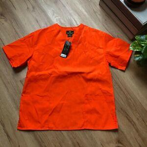NWT Natural Uniforms B101 Unisex Orange Scrub Set Unisex Size XXS