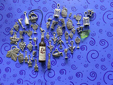 DIY:43+ a.SP Wine Charms:Bottles, Corkscrews, Grapes, Glasses,Goblets, Barrels++