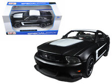 2012 Ford Mustang Boss 302 Matte Black 1:24 Diecast Model - Maisto - 31269MBK *