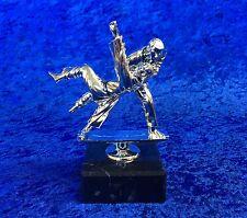 Martial Arts Kick Boxing Karate Judo Silver Duo Figures Trophy FREE engraving