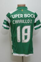 SPORTING CP PORTUGAL 2014/2015 HOME FOOTBALL SHIRT JERSEY MACRON CARRILLO D #18