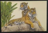 Tiger Hand Painted Finest Miniature Painting Carved Rare Natural Grass Art brush