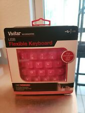 Vivitar USB Flexible Keyboard Rollable and spill Proff, Waterproof