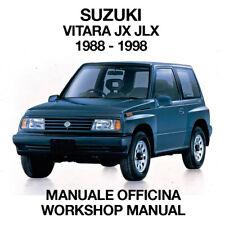 SUZUKI VITARA JX JLX 1988 1998. Service Manuale Officina Riparazione Workshop EN