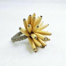 Napkin Ring by Designer Kim Seybert Beaded Constellation Single Ring