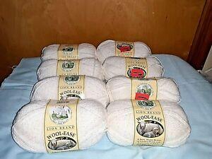 Lion Brand Wool Ease 4 Medium Acrylic Wool Blend Yarn 8 skeins  White Multi 301