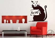 Banksy Rat ' You Lie ' Wall Sticker 60cm x 70cm
