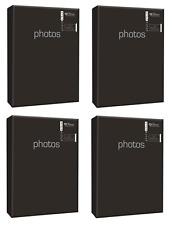 4x Negro álbumes de Fotos Capacidad 320 (4x 80) 10.2cm x 15.2cm fotografías