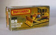 Repro Box Matchbox Superfast Nr.64 Caterpillar Bulldozer