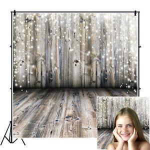 Christmas Xmas 2x2ft Retro Wooden Board Backdrop Photography Props