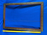 Primitive Antique-VTG Barn Rough Wood Large Picture Frame mirror 37x25, with an