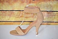 Jeffrey Campbell Charvet Women's Brown Leather Suede Ankle Strap Heels Sz 9.5