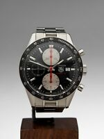 TAG HEUER CARRERA CHRONOGRAPH STAINLESS STEEL WATCH CV201T 42MM COM944
